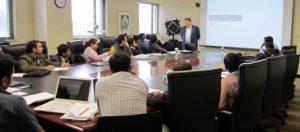 Tim Rey, director of advanced analytics for Steelcase, addresses S. P. Jain students attending the business analytics intensive program.