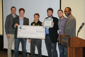 Team Carbon Cash receives their award