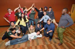 BroadWeek students practice their improvisational skills