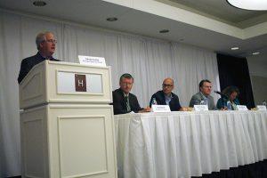 Dept Chair David Closs with Food Panelists.