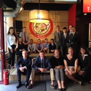 Global Finance Studies program students in Belgium.