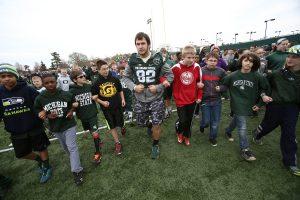 Josiah Price with kids