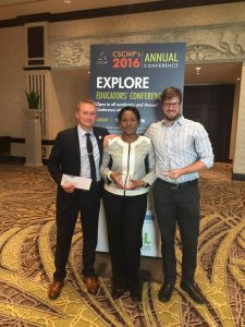 Matt Schwieterman, Yemisi Bolumole, and Jason Miller at CSCMP Educators conference.