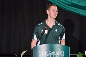 Jamie Carlstedt Speaks to Spartan Alumni
