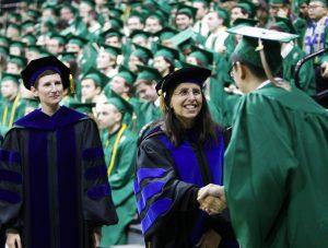 Dean Kathy Petroni at commencement