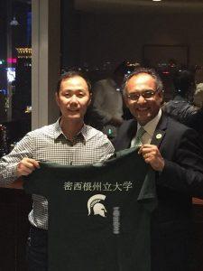 (From left) Jing Wang and Sanjay Gupta