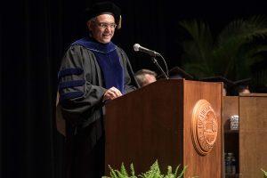 Dean Sanjay Gupta addresses graduates