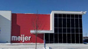 Exterior shot of Meijer Lansing Distribution Center 84 entrance.