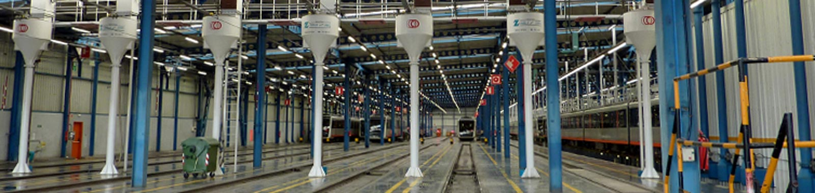 Inside a railway facility