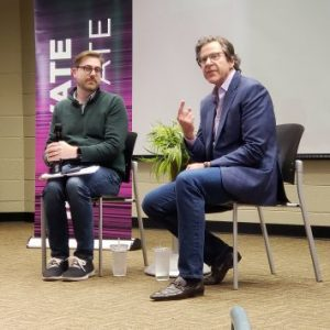 Dave Zilko (right) at Innovate State. Photo by Omar Sofradzija.