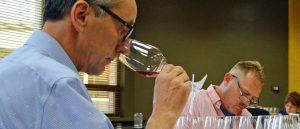 Judges tasting red wine