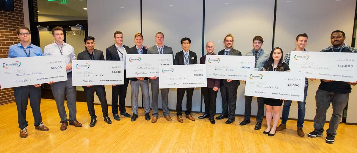 BNVC 2019 winners hold their big checks