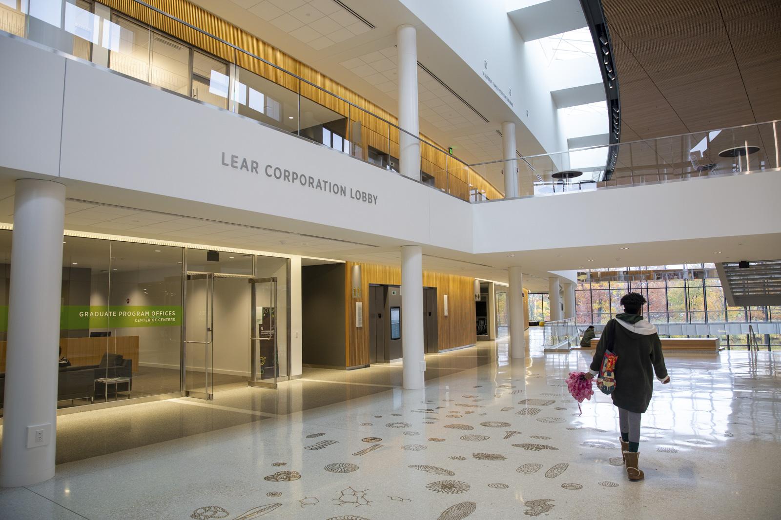 Inside the MSU Minskoff Pavilion lobby