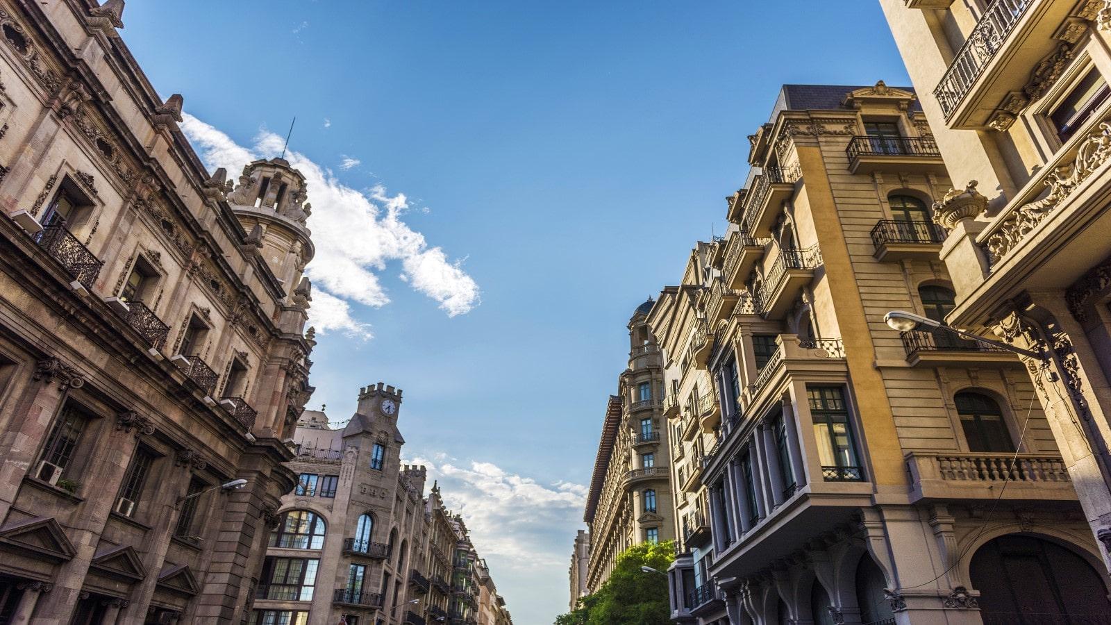 Classic Barcelona Architecture, in Spain.