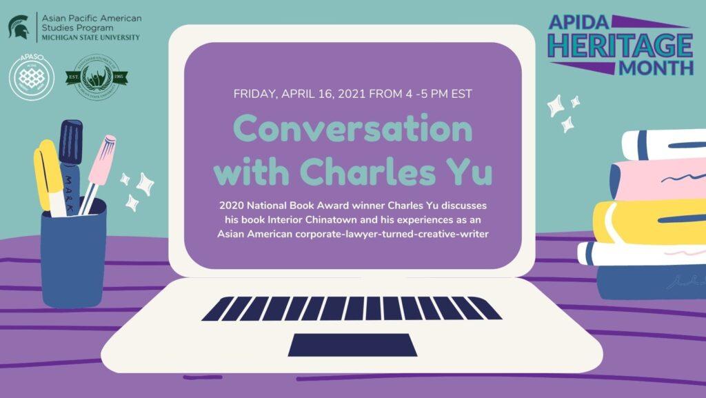 Charles Yu event flyer