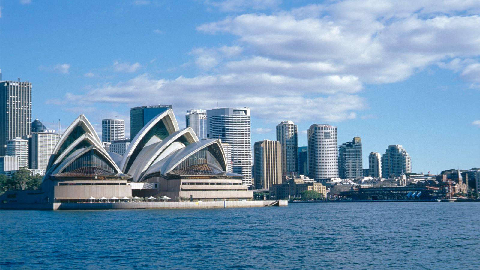 Sydney skyline with the Opera Building.