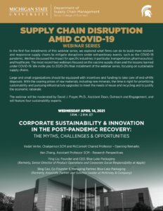 Supply Chain Disruption Amid COVID 19 Flyer