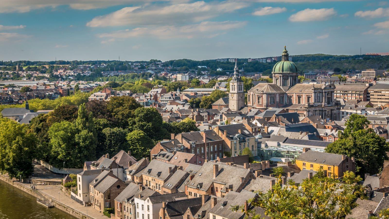 Aerial view of Namur, Belgium.